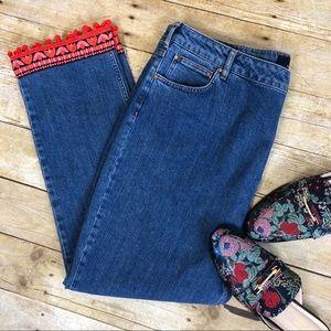 Boden Cambridge Plus Size Pom Pom Ankle Jeans